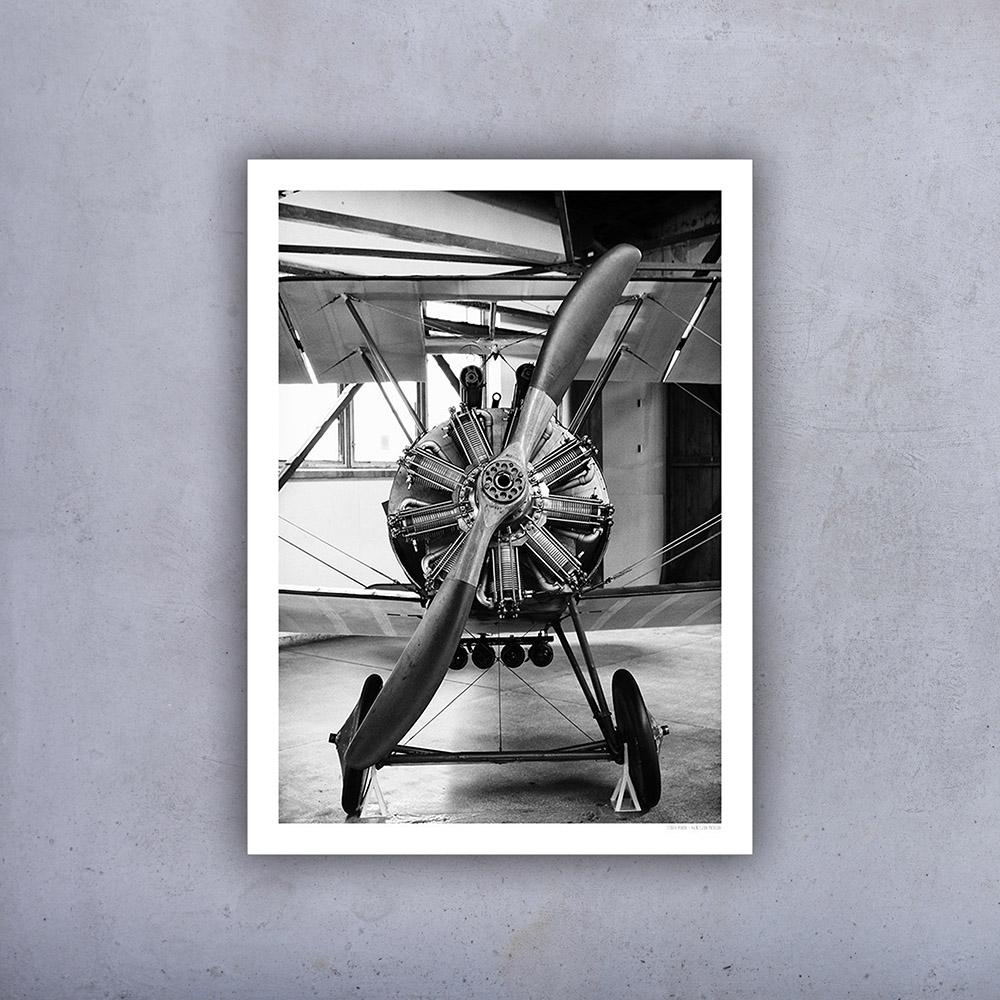 Plakat Stary Samolot Od Frontu